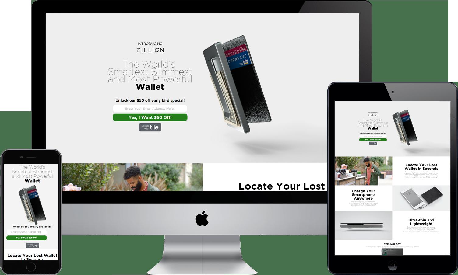 ZillionWallet portfolio