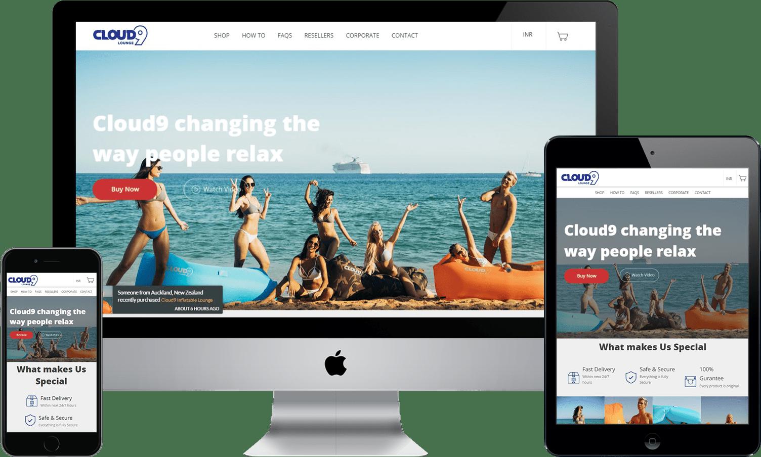 Responsive Shopify cloud9 design