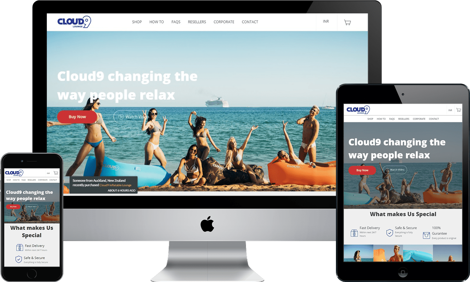 Responsive Shopify cloud9 design